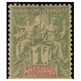 New Caledonia Stamps #40-54, 56-68 Mint HR CV $414