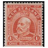 New Zealand Stamps #130-139 Mint HR CV $283.75