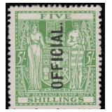 New Zealand Stamps #O57 Mint HR VF CV $450