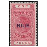Niue Stamps #30-34 Mint HR F/VF CV $401