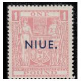 Niue Stamps #86-89 Mint HR F/VF CV $415