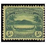 Solomon Islands Stamps #8-18 Mint HR F/VF CV $272