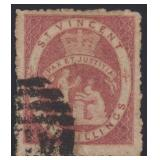 St Vincent Stamps #29 Used w/ Certificate CV $1650