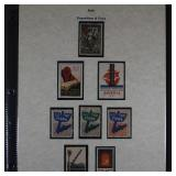 Stamps Cinderellas and Labels collection 175+