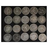 US Coins Roll of Barber Quarters 40 1892-1916