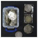 US Coins 44 Walking Liberty Half Dollars 1930s-40s