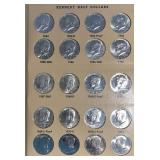US Coins 2 Kennedy Half Dollar Albums MS-65