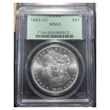 US Coins 1882-CC MS-63 $1 Morgan Dollar
