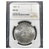 US Coins 1883 MS-66 $1 Morgan Dollar
