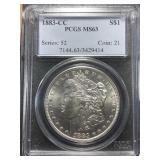 US Coins 1883-CC MS-63 $1 Morgan Dollar