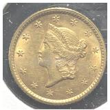 US Coins 1853 $1 Liberty Gold Piece