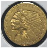 US Coins 1911 $2.50 Indian Gold Quarter Eagle