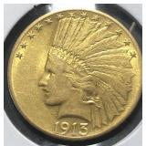 US Coins 1913 $10 Indian Gold Eagle