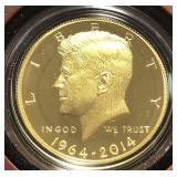 US Coins 2014 Kennedy Half Dollar Gold .75 Troy oz
