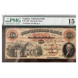 US Paper Money 1861 $100 Bank of Monticello F15