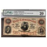 US Paper Money 1861 $50 Bank of the Commonwealth