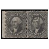 US Stamps #36 Used F/VF Pair CV $700