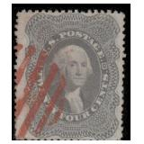 US Stamps #37 Used VF Red Cancel CV $465