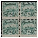 US stamps #117 Mint OG Block of 4 Sound CV $14,000