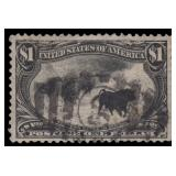 US Stamps #292 Used VF Cattle in the Storm CV $700
