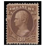 US Stamps #O112 Used 30c Treasury CV $425