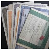 US Stock Certificates with Revenue Stamps 25+