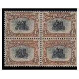 US Stamps #296 Mint NH Block 4 CV $750
