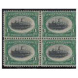 US Stamps #294 Mint DG Block 4 CV $150+