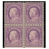US Stamps #517 Mint NH VF Block 4 CV $440+