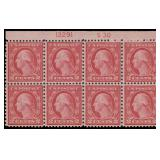 US Stamps #540 Mint NH Plate Block of 8 CV $280