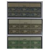 US Stamps Back of Book Plate Block Coll $1000+