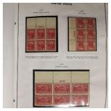 US Stamps Plate Block Collection 1920-62 CV $3500+