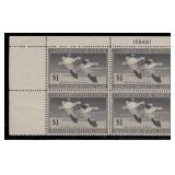 US Stamps #RW4 Mint LH Plate Block of 4 CV $220