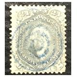 US Stamps #78 Used F/VF Blue cancel CV $400
