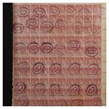 US Stamps Postage Dues Used Sheets & Multiples