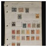 Worldwide Stamps Thousands 1880s-1930s on pages