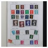 Great Britain Stamps 175+ Machins on pages incl La