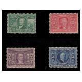 US Stamps #323-326 Mint H CV $180