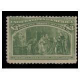 US Stamps #243 Mint RG w/PSE Cert CV $675