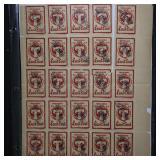 Austria Tirol Stamps Block of 25