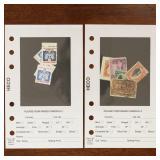 US Stamps Accumulation on dealer pages & glassines