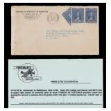 Guatemala Stamps 1942 Cover with Bisect & Censor t