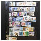 Iceland Stamps Mint & Used on Pages