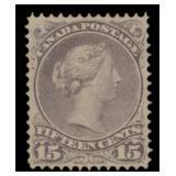 Canada Stamps #29 Mint No Gum VF CV $70