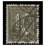 Germany Stamps #138c Used Blackish Olive CV $275