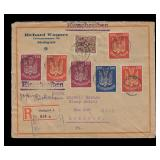 Germany Stamps 1922 Airmail Cover with #C9 x2, C10