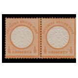 Germany Stamps #16 Mint LH Pair with experts marks