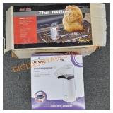 Popcorn popper and Beer Can chicken Holder