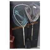 2 fishing nets and paddle