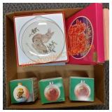 Christmas decorations and collector plates